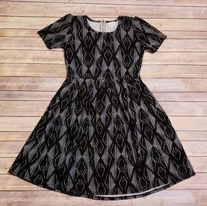LuLaRoe Dresses - Black & White LuLaRoe Amelia Dress